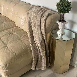 Beretta made in Italy chunky knit blanket wool